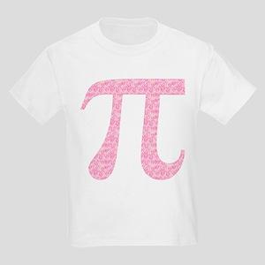 Pink Heart Pi Kids Light T-Shirt