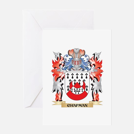 Chapman Coat of Arms - Family Crest Greeting Cards