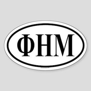 PHI ETA MU Oval Sticker