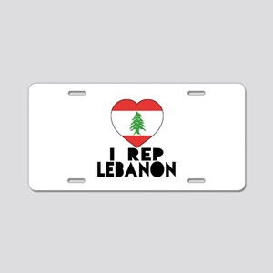 I Rep Lebanon Country Aluminum License Plate