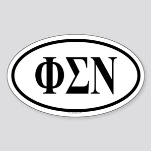 PHI SIGMA NU Oval Sticker