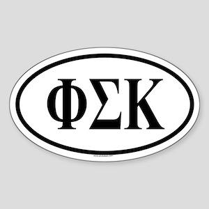 PHI SIGMA KAPPA Oval Sticker