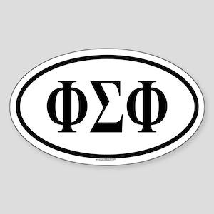 PHI SIGMA PHI Oval Sticker