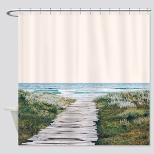 The Ocean is Calling and I Must Go Shower Curtain
