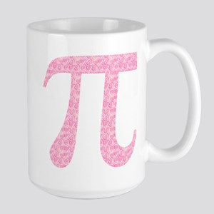 Pink Heart Pi Large Mug