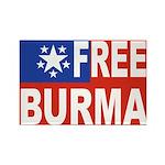 Free Burma Rectangle Magnet (100 pack)