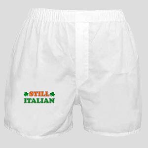 Still Italian Irish Shamrock Boxer Shorts