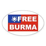 Free Burma Oval Sticker
