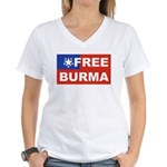 Free Burma Women's V-Neck T-Shirt