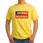 Free Burma Yellow T-Shirt
