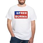Free Burma White T-Shirt