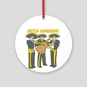 Gotta Mariachi Round Ornament