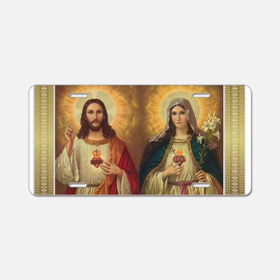 Sacred Heart Aluminum License Plate