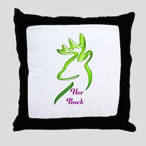 her buck Throw Pillow