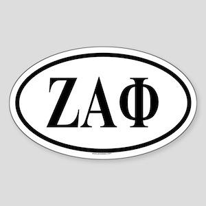 ZETA ALPHA PHI Oval Sticker