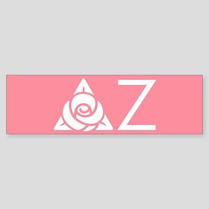 Delta Zeta Letters Sticker (Bumper)