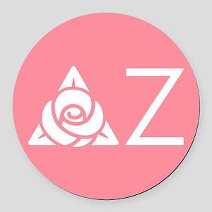 Delta Zeta Letters Round Car Magnet