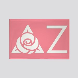 Delta Zeta Letters Rectangle Magnet