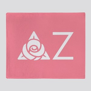 Delta Zeta Letters Throw Blanket
