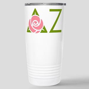 Delta Zeta Letters Stainless Steel Travel Mug
