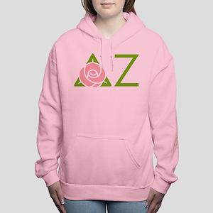 Delta Zeta Letters Women's Hooded Sweatshirt