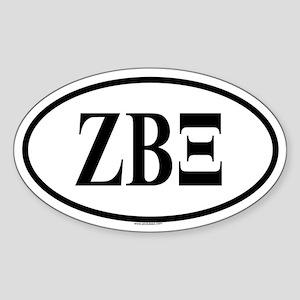 ZETA BETA XI Oval Sticker