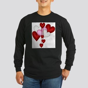 Romantic Hearts Long Sleeve T-Shirt