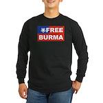 Free Burma Long Sleeve Dark T-Shirt