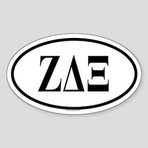 ZETA DELTA XI Oval Sticker