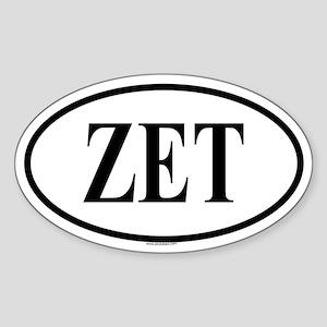 ZETA EPSILON TAU Oval Sticker