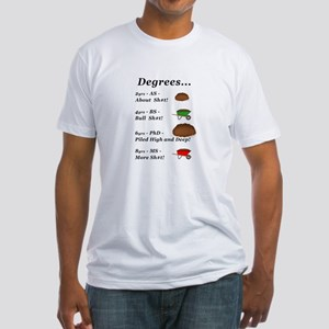 College Degrees Fitted T-Shirt