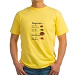 College Degrees Yellow T-Shirt