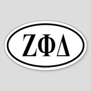 ZETA PHI DELTA Oval Sticker