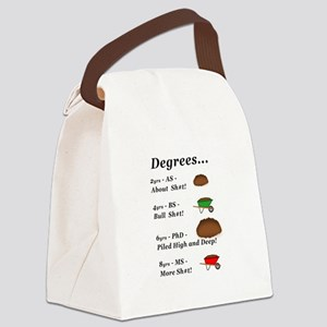 College Degrees Canvas Lunch Bag