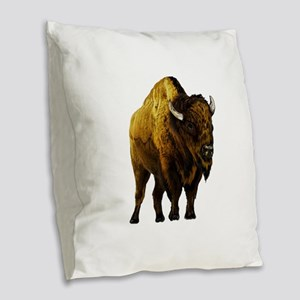 BISON Burlap Throw Pillow