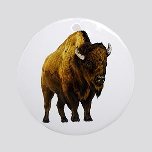 BISON Round Ornament