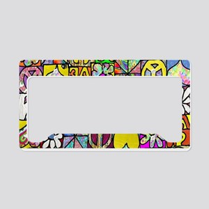 Psychedelic Shalom Top Tag License Plate Holder