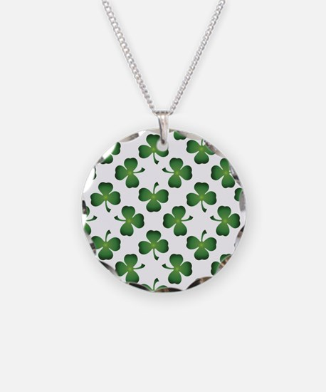 Lucky Shamrock Green Pattern Necklace