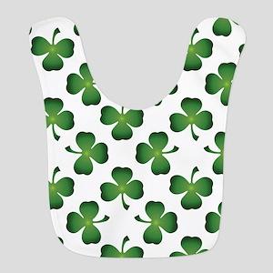 Lucky Shamrock Green Pattern Polyester Baby Bib