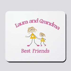Laura & Grandma - Best Friend Mousepad