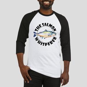 The Salmon Whisperer Fishing Sport Baseball Jersey