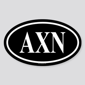 ALPHA CHI NU Oval Sticker