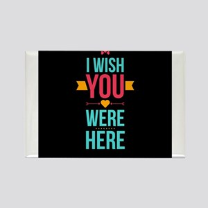 I Wish You Were Here Love Hearts Magnets
