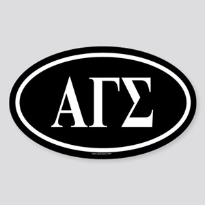 ALPHA GAMMA SIGMA Oval Sticker