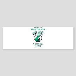 Give A Shelter Pet A Loving Home Bumper Sticker