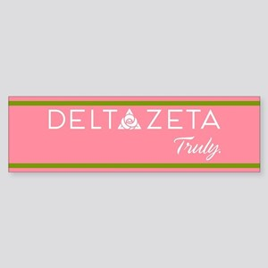 Delta Zeta Truly Sticker (Bumper)