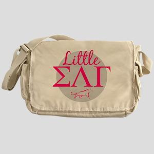 Sigma Lambda Gamma Little Letters Pi Messenger Bag