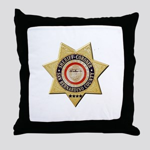San Bernardino Sheriff-Coroner Throw Pillow