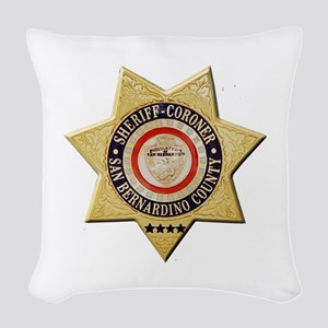 San Bernardino Sheriff-Coroner Woven Throw Pillow