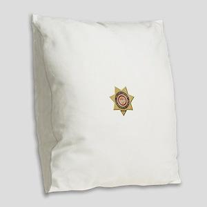 San Bernardino Sheriff-Coroner Burlap Throw Pillow
